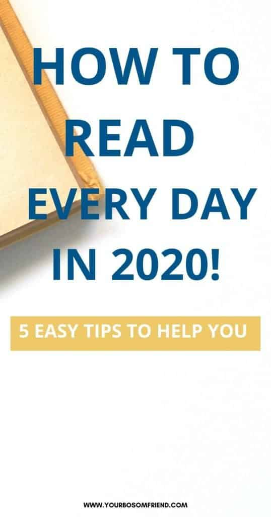 5 Tips to Read WAY More Books Every Day in 2020!