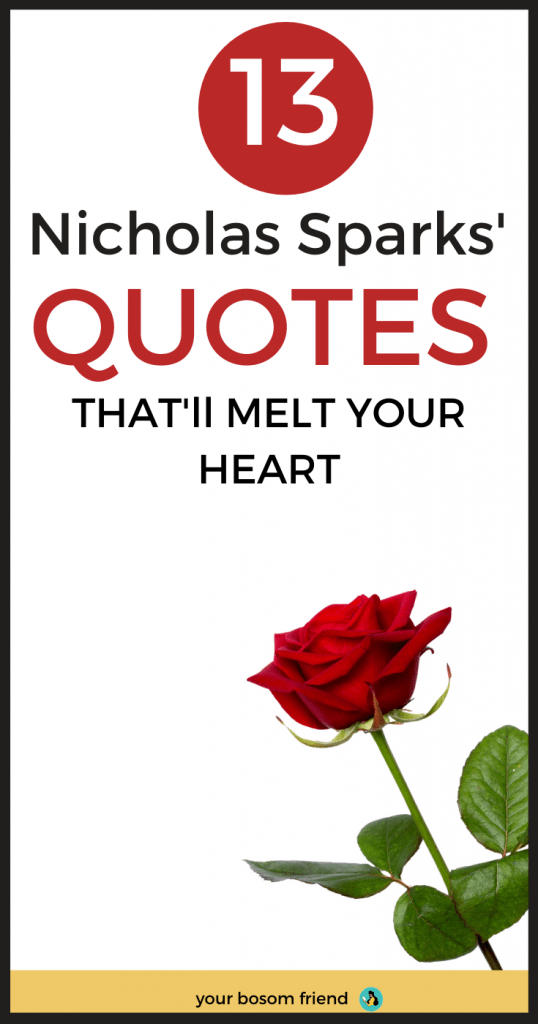 13 Quotes From Nicholas Sparks that Can Make you to Fall in Love Again